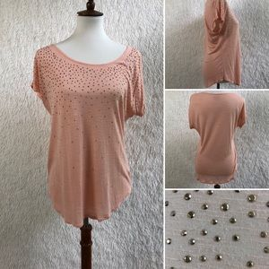 Apt. 9 Coral Blouse with Sequin Detail